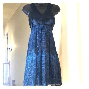 EXPRESS size S dark blue with turquoise print
